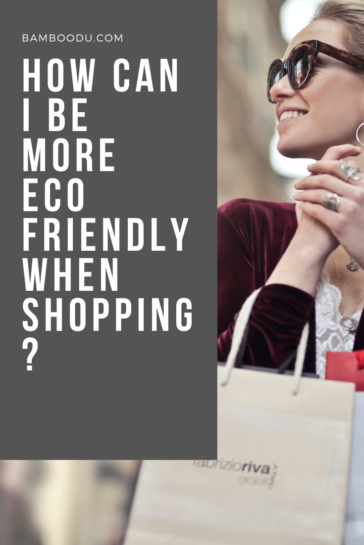 be more eco-friendly while shopping