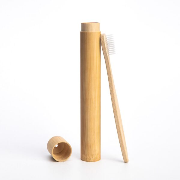 bamboo travel case for toothbrush