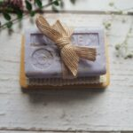 Lavender Soap & Bamboo Dish with Sisal Bag Gift Set